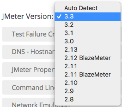 blazemeter supports jmeter 3.3