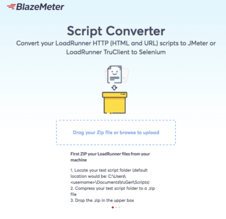 convert from load runner to JMeter