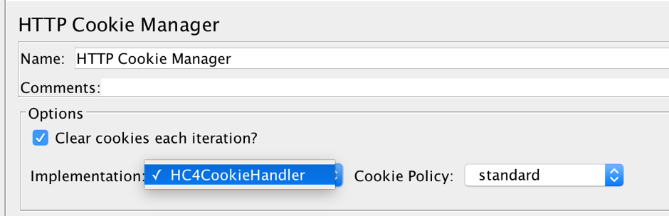 jmeter cookie manager