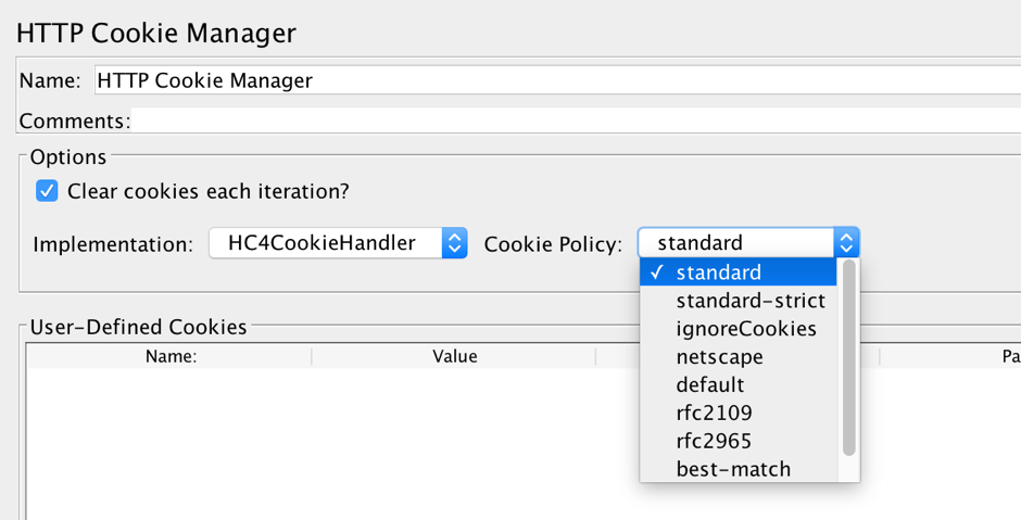 cookie performance testing on jmeter