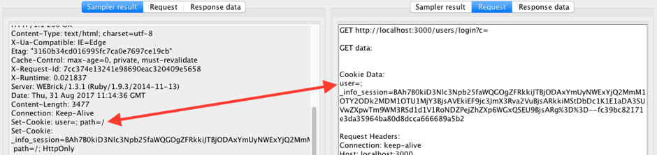 cookie load testing with jmeter