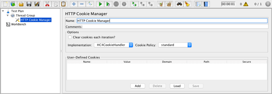 how to load test cookies