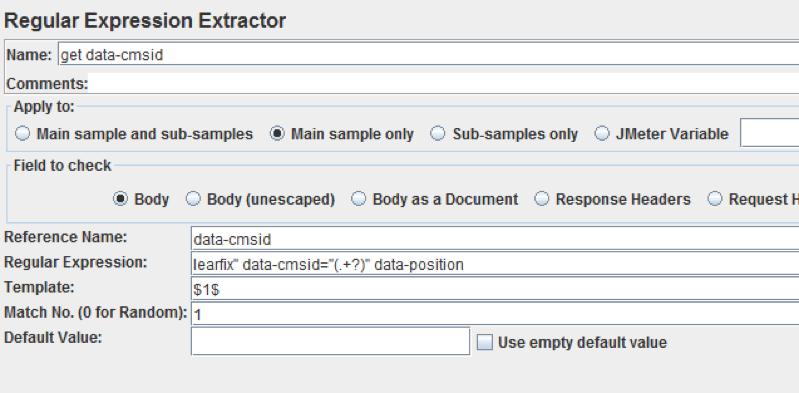 jmeter correlation