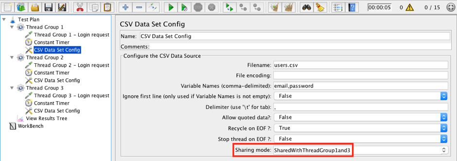 jmeter csv data set config edit sharing mode