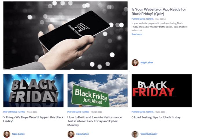marketing messaging blazemeter black friday
