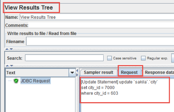 changing database data with jmeter