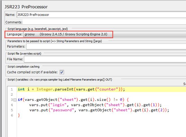 groovy code, spreadsheet testing