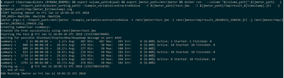 uding jmeter scripts with docker