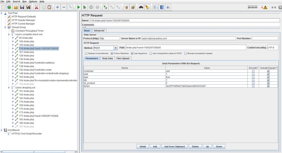 jmeter, load testing, throughput controller