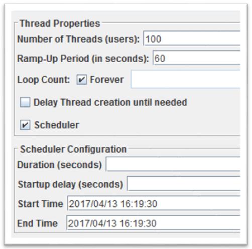 jmeter scheduler