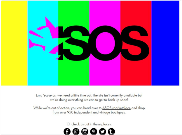 asos website crash brexit