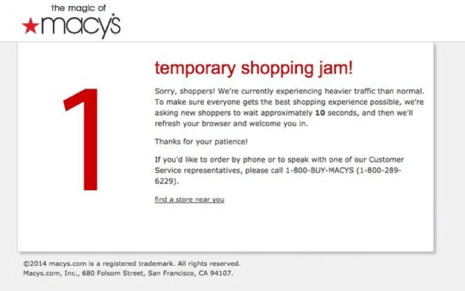 macys website and app crash under heavy load black friday