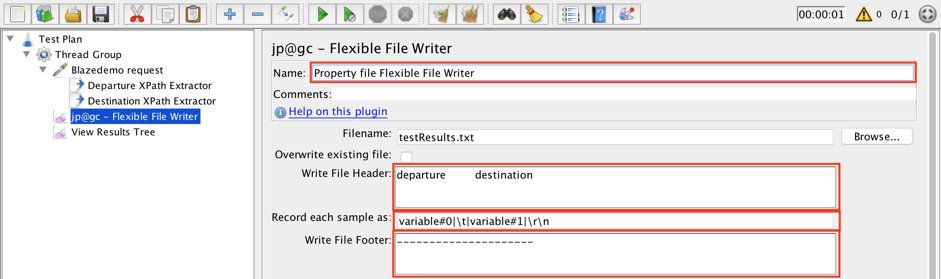 jmeter, open source, flexible file writer plugin