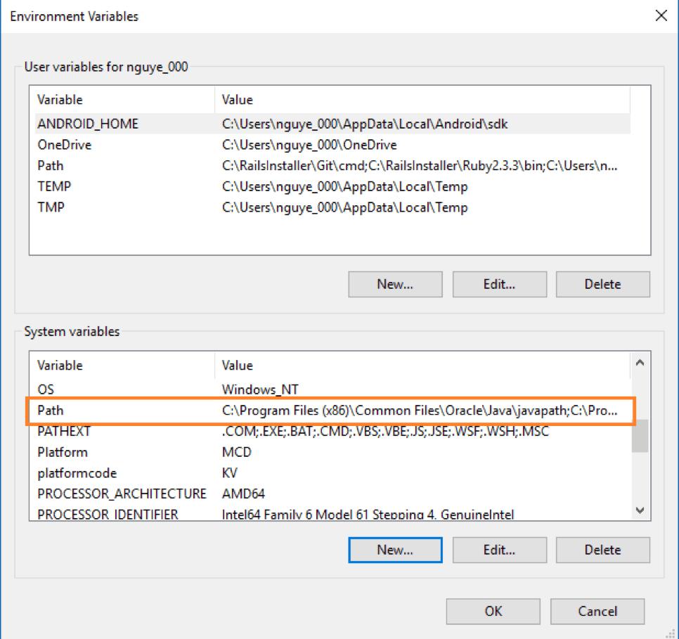 setting installation variables, gatling