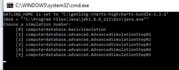 gatling load test script