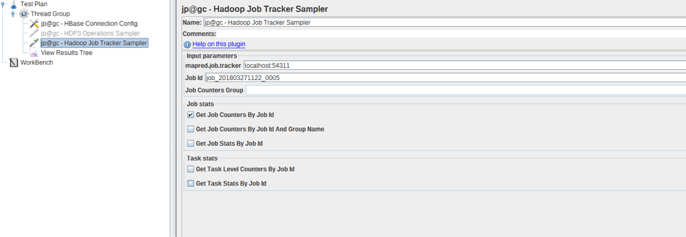 jmeter load testing of hadoop