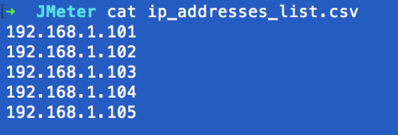 creating a jmeter test and running for many ip addresses