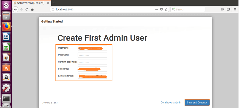 how to create a jenkins admin