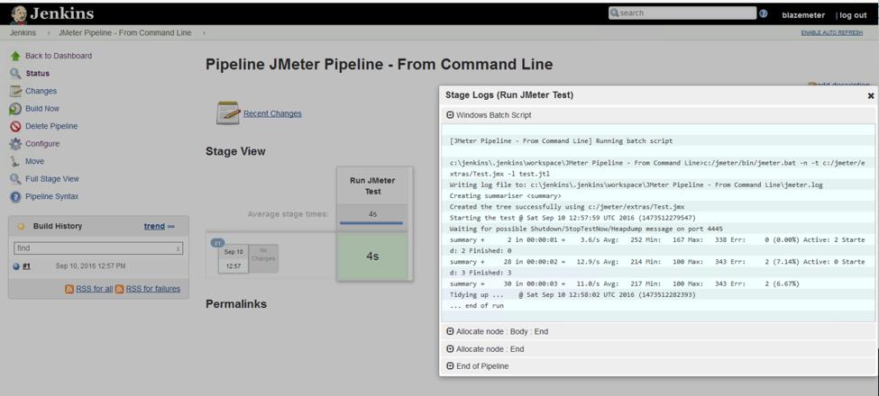 jenkins jmeter pipeline output