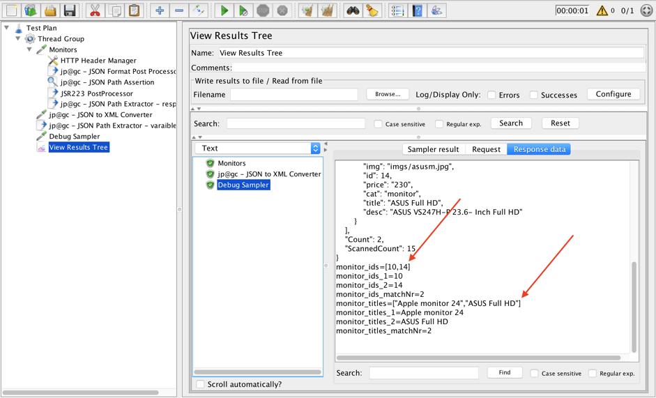 json jmeter script