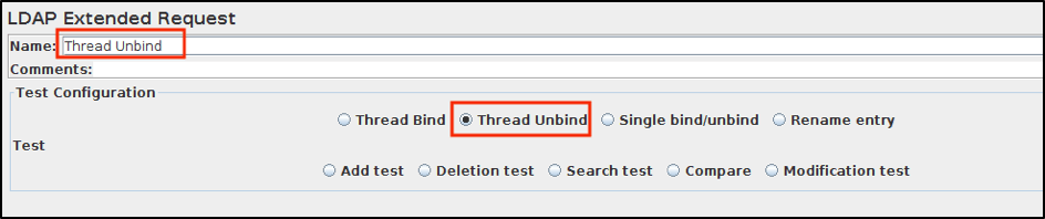jmeter ldap sampler thread unbind