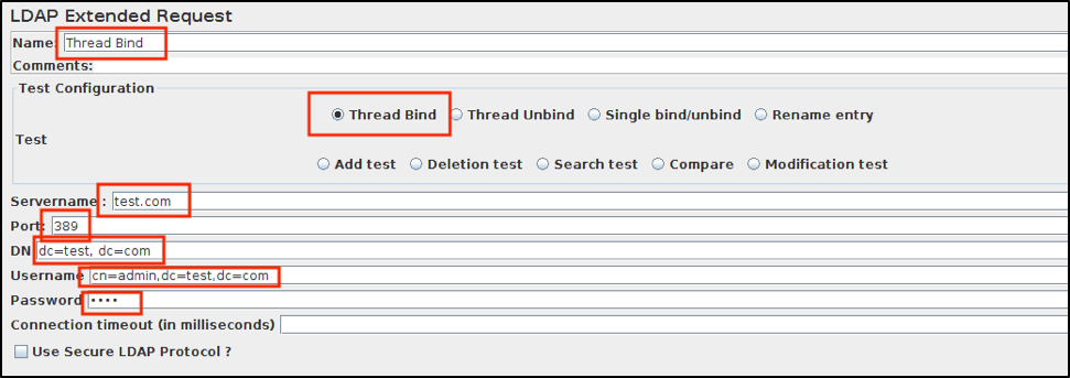 ldap request jmeter thread bind