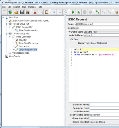 can i load test a mysql database on jmeter?