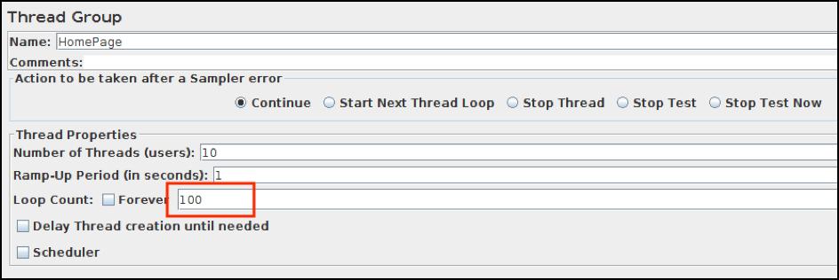 thread group change in JMeter
