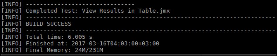 jmeter maven plugin output