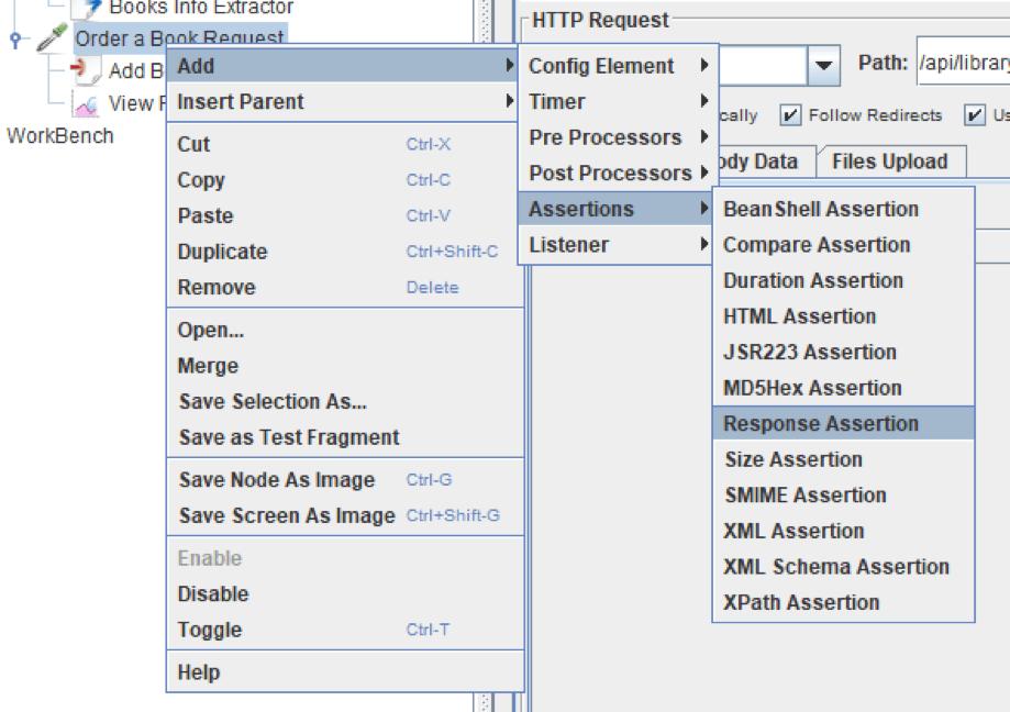 jmeter, micro services