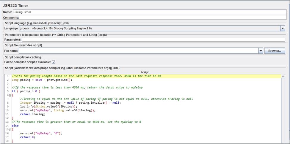 JSR2233 timer jmeter pacing