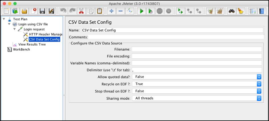 load testing parameterization