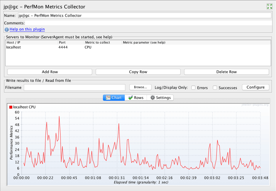 collecting data with jmeter plugins