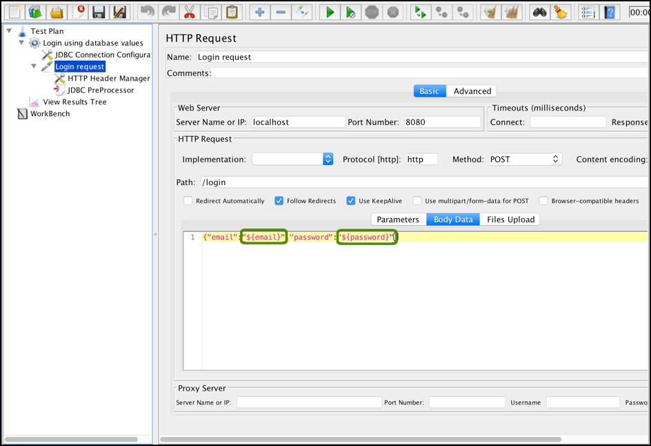 jmeter, jdbc preprocessor