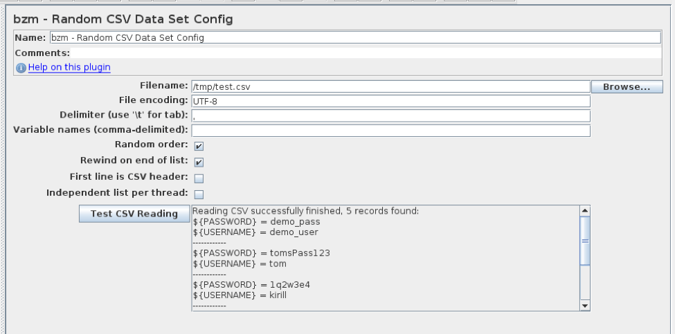 Introducing the Random CSV Data Set Config Plugin on JMeter - DZone