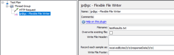 how to use the flexible file writer in jmeter