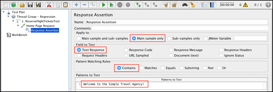 jmeter regression functional testing