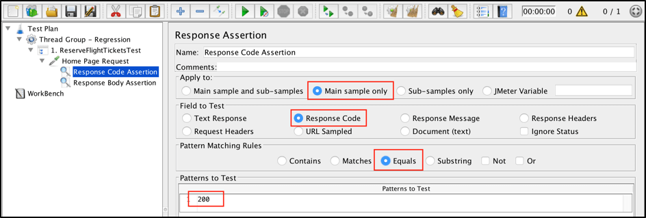 regression testing with jmeter