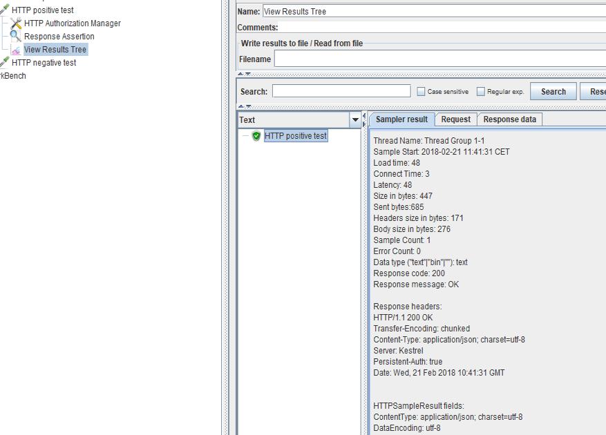 creating a jmeter test forrest api testing