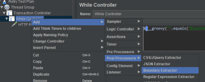 using controllers to moderate sampler test results in jmeter