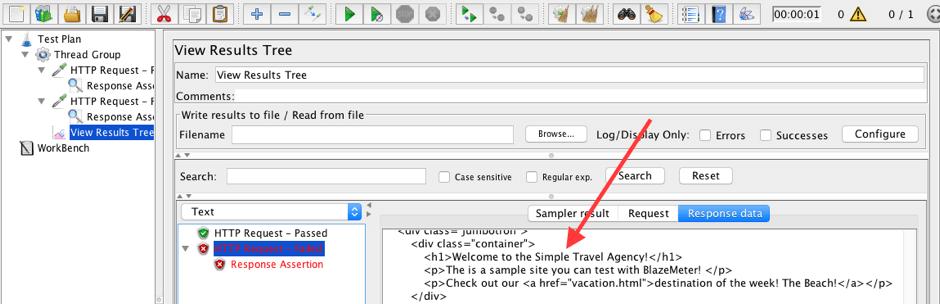 using listeners to save response data on jmeter