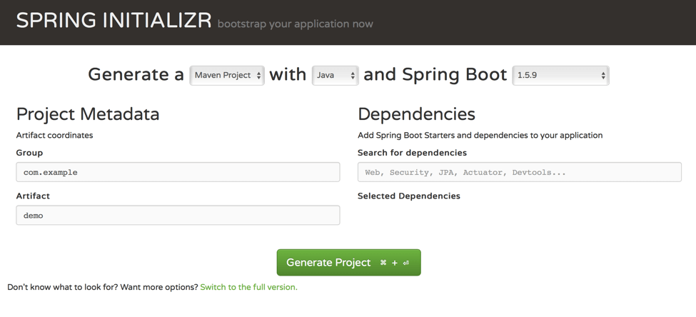 create an api in spring boot