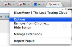 BlazeMeter Load Testing Cloud Chrome Extension ID