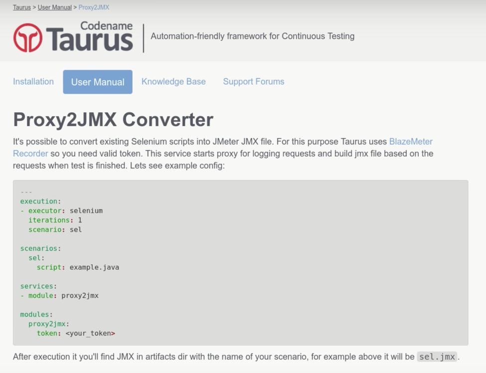 taurus proxy2jmx converter