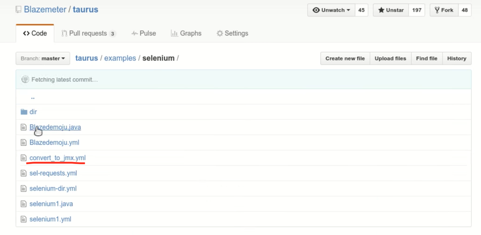 selenium examples directory