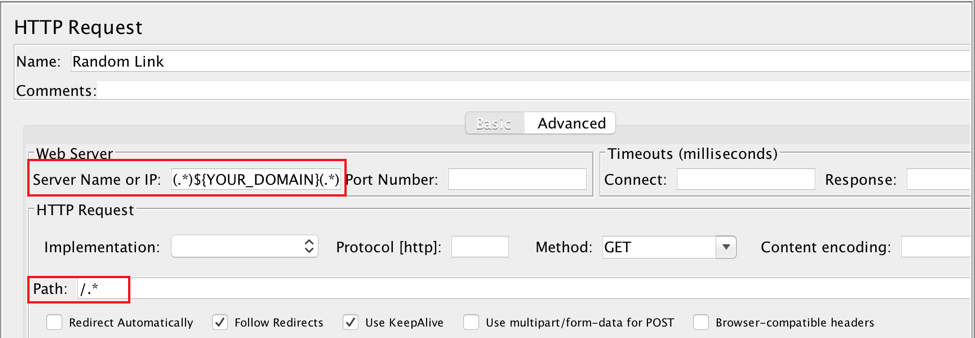 html link parser jmeter
