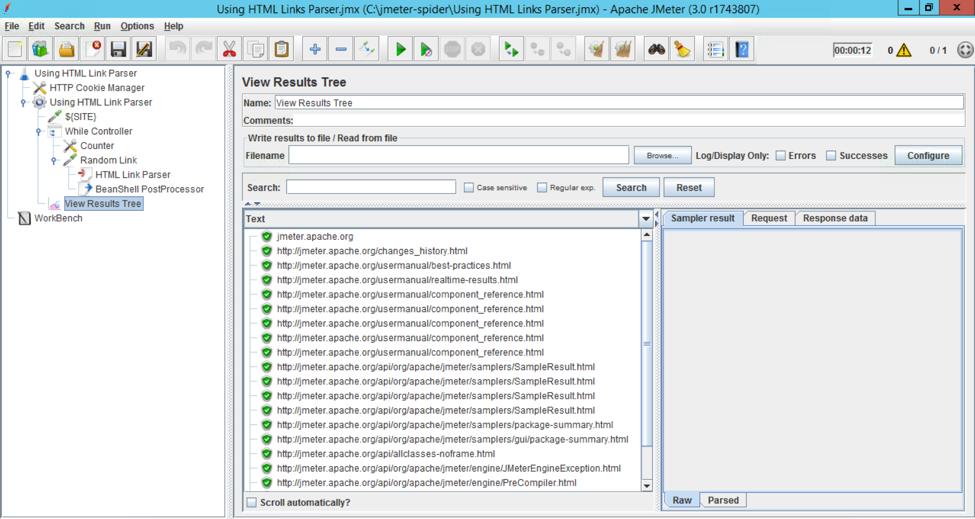 html link parser demo jmeter