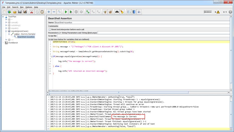 testing APIs with jmeter strings