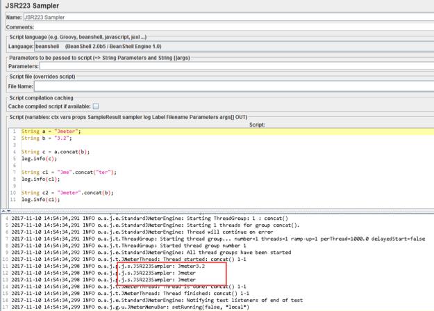 using strings in the jmeter jsr223 sampler