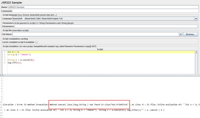 usin jmeter strings in the concat method